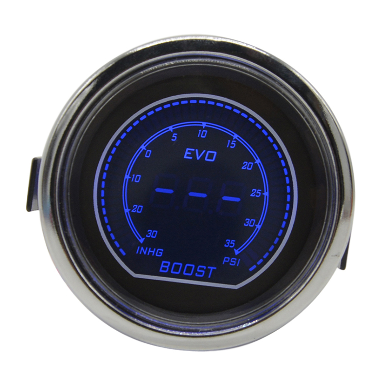 Naga gauge Putih Shell Lensa Asap 52mm Auto Mobil Turbin Minyak - Suku cadang mobil - Foto 3