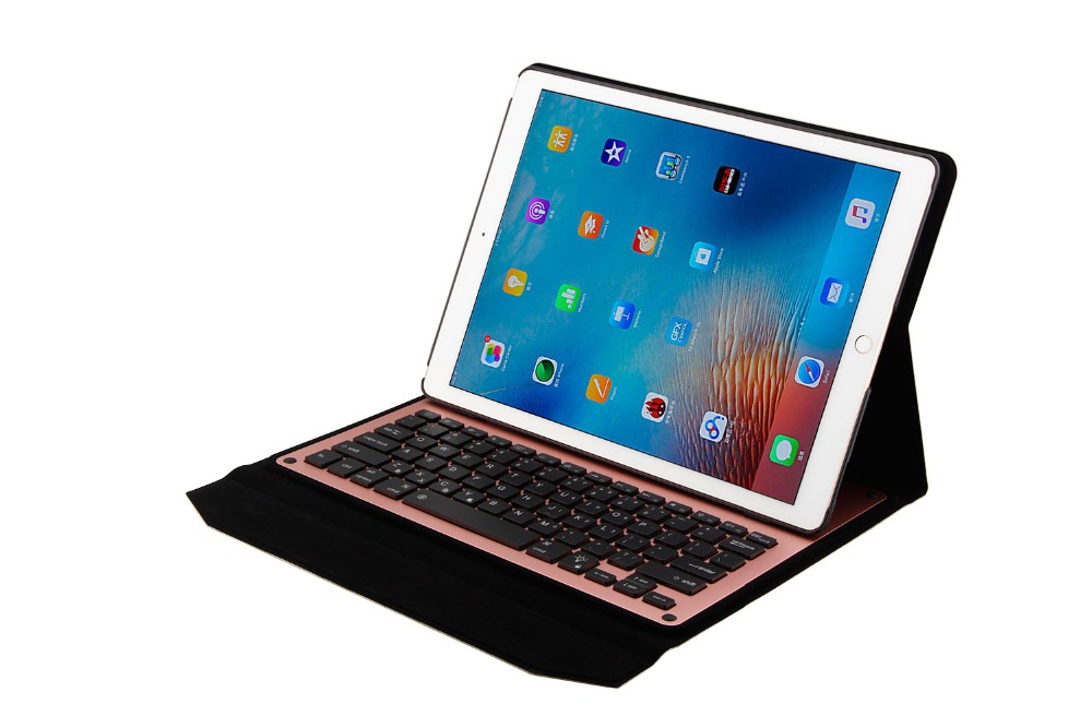 Backlight Bluetooth Keyboard Case For Apple ipad pro 12.9 A1584 A1652 Removable Wireless Keyboard PU Leather Cover Case+gifts