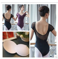 Adult Ballet Leotard Women Sexy Fashion Dance Leotards Black Purple Green Coffee Lace Mesh Dancewear