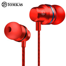 TOMKAS TPE Line Earphone for Phone 5 Color In-ear Earphones and Headphone Heavy Bass for Mobile Phone Clear Bass with Microphone