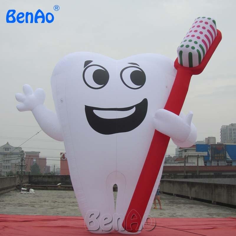 AC051 dent gonflable publicité dentiste Ad Promotion de la santé, modèle de dent gonflable blanc géant/ballon gonflable - 2