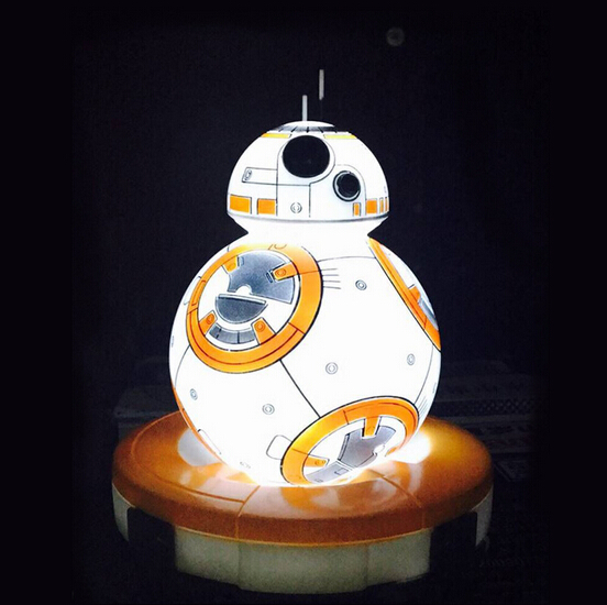 NEW hot 12cm Star Wars The Force Awakens BB8 BB-8 Night light eyecare 7 colour change model action figure toy Christmas gift
