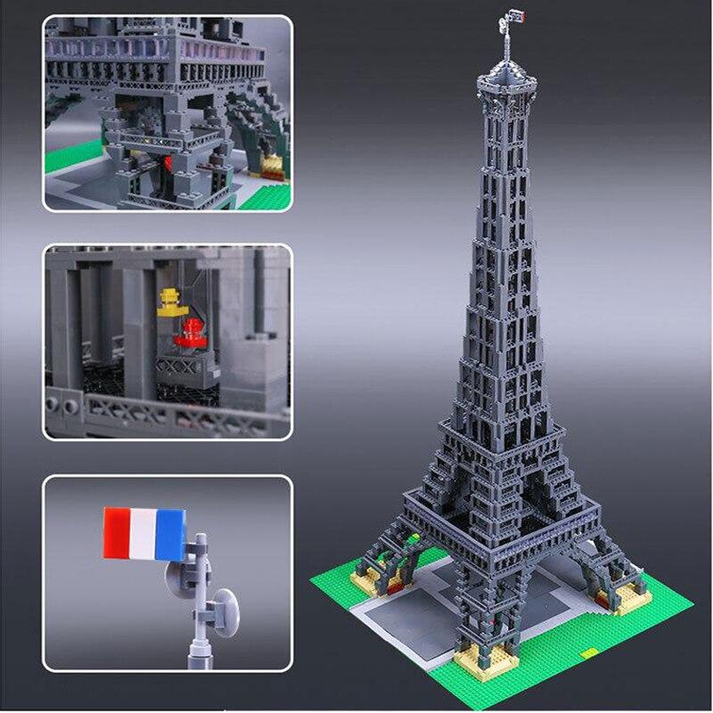 17002 Rue Série Bâtiment Tour Eiffel briques de modã ¨ le Enfants Assemblé Bloc de Bâtiment à l'architecture jouets pour enfants
