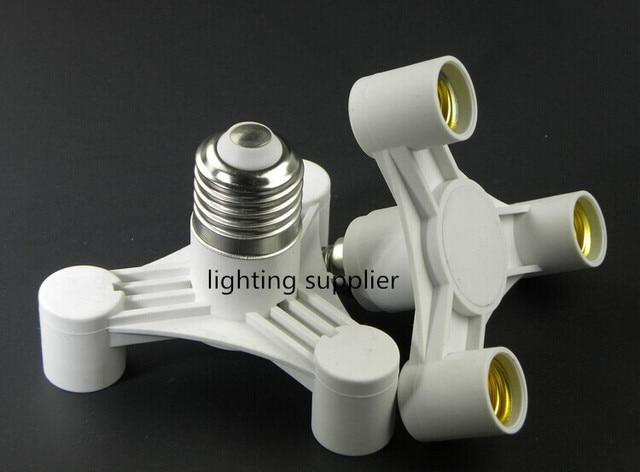2pcs E27 to 3 E14 pendant lamp base ceiling light bulb splitter holder  converter socket adapter