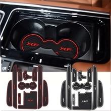 10pcs Auto Car Accessories Interior Door Rubber Non-slip Cup Mat Holder Gate Slot Pad for Jaguar XF 2011-2015