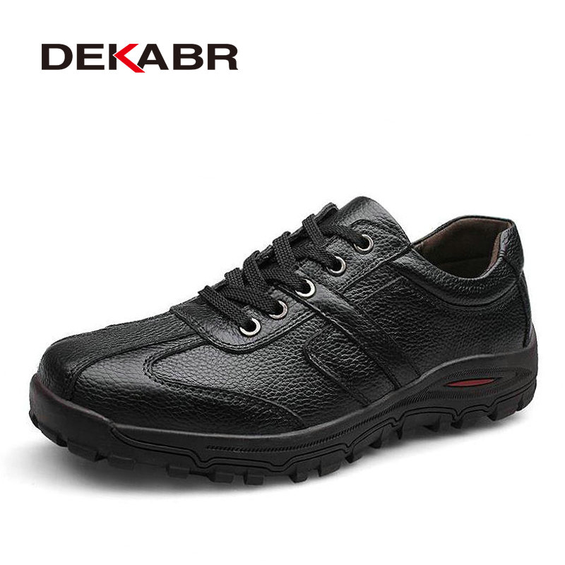 DEKABR Brand Size 38 48 Fashion Handmade Brand Genuine leather men Flats Soft leather men Male
