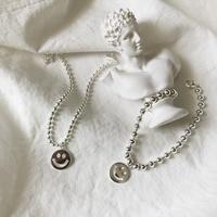 S925 sterling silver Girl Smile Face Bracelet Bangle 2.5mm bead and 4mm bead Bileklik bransoletki damskie bracelet femme aretes