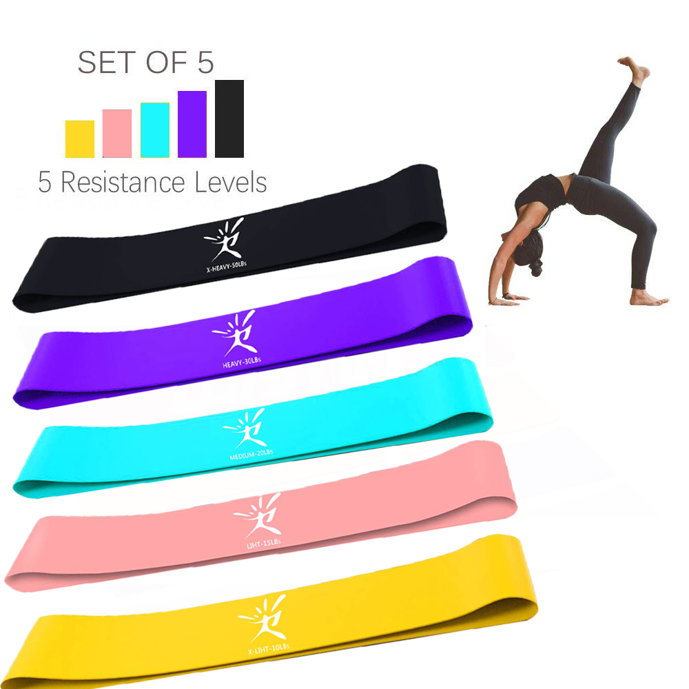 SeekNfind 5 Colors Latex Resistance Bands Fitness Set Rubber Loop Strength Training