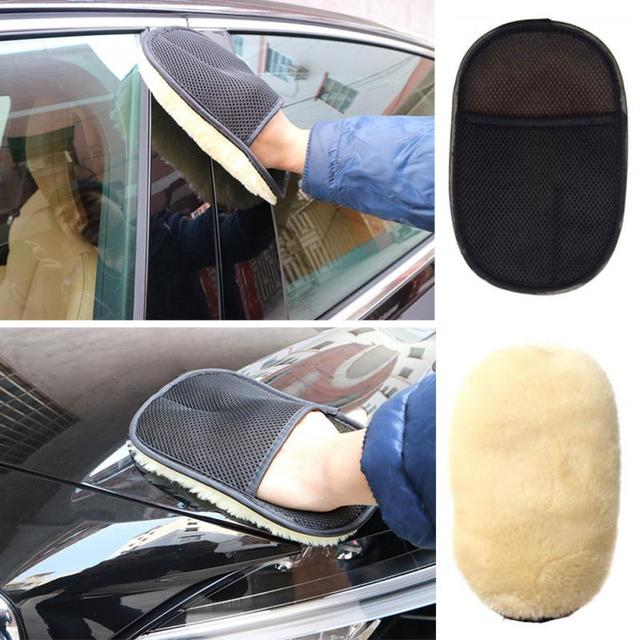 2019 Car Care Cleaning Brushes Polishing Mitt Brush Super Clean Wool Car Wash Glove Car Cleaning Brush Car Motorcycle Washer