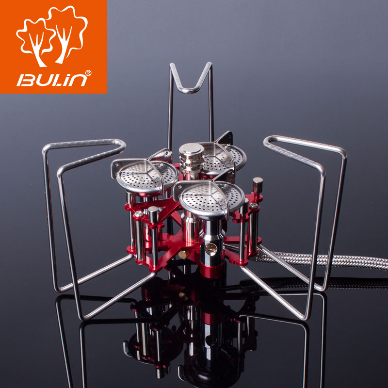 5800W Portable Three Burners Stove Aluminum & Stainless Outdoor Camping Split Gas Stove Foldable Butane Furnace BL100-B6-A
