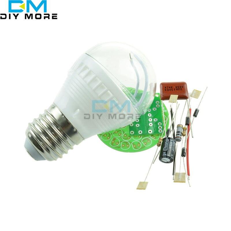 M126 1 Set Energy-Saving Light 38 LEDs Lamps DIY Kits Electronic Suite