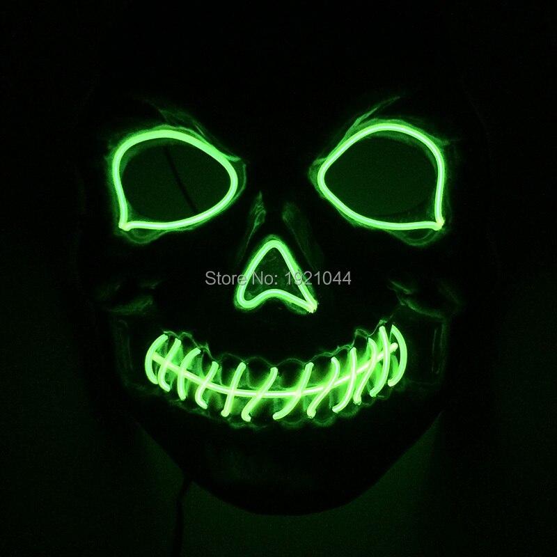 2017 New arrival 10 colors select Dance DJ LED Flashing Mask EL Wire LED Mask Halloween Glowing <font><b>lights</b></font>