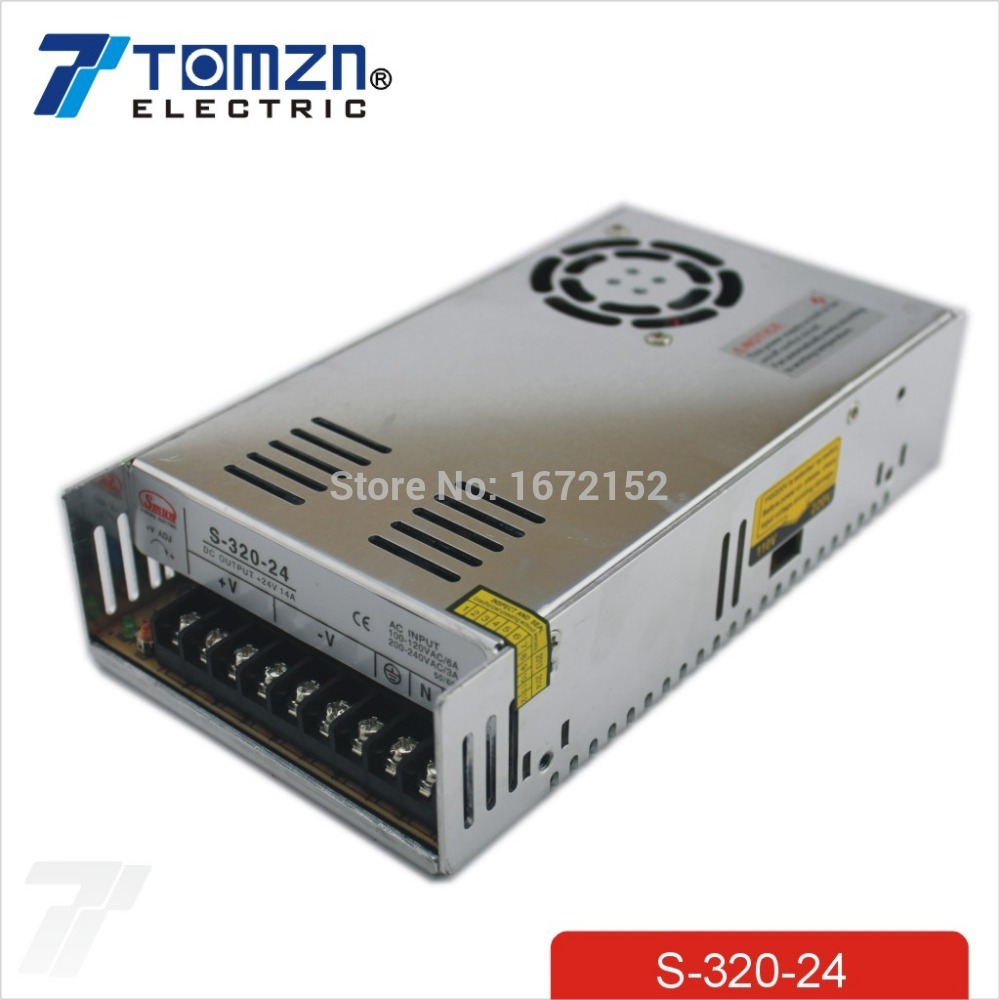 320W 24V 12.5A Single Output Switching power supply for LED Strip light AC to DC SMPS free shipping 35w 24v 1 5a single output mini size switching power supply for led strip light ms 35 24