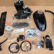 80cc 2 цикл комплект моторного двигателя для моторизованного велосипеда черный корпус