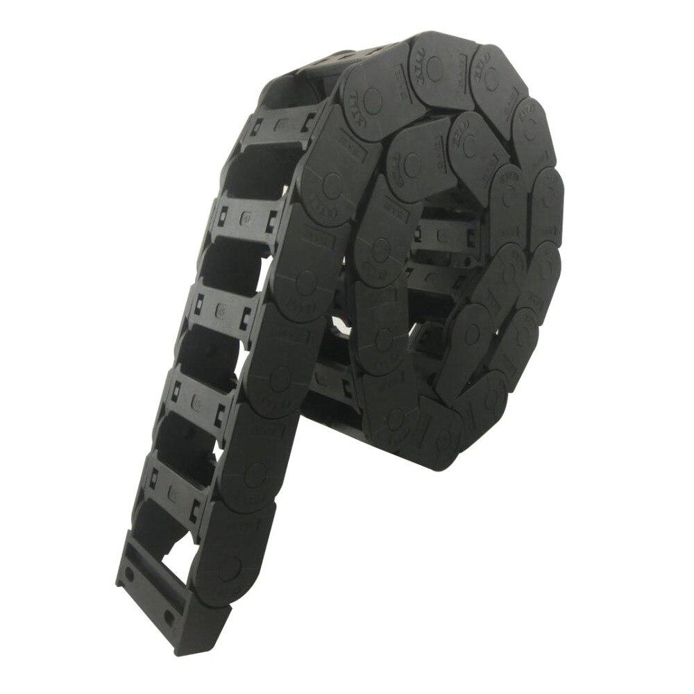 цена на Transmission Chains 25 x 57mm Internal Size 1M Length Plastic Reinforced Nylon Towline Cable Drag Chain