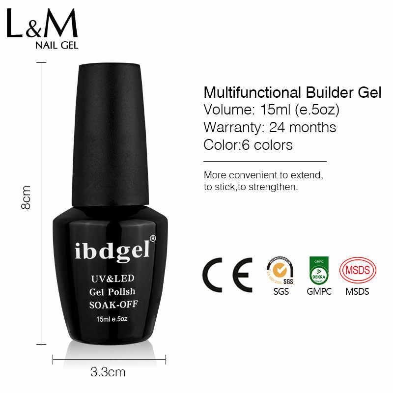 1pc ibdgel Polygel nueva llegada Multi-funcional Builder gel en botella extensión rápida gel esmalte