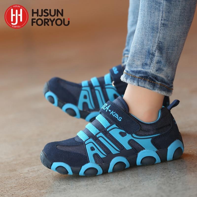 איכות גבוהה מותג ילדים הנעליים בנים ונערות עור אמיתי נעלי בחוץ לנעול נעלי ריצה נעלי ספורט לילדים