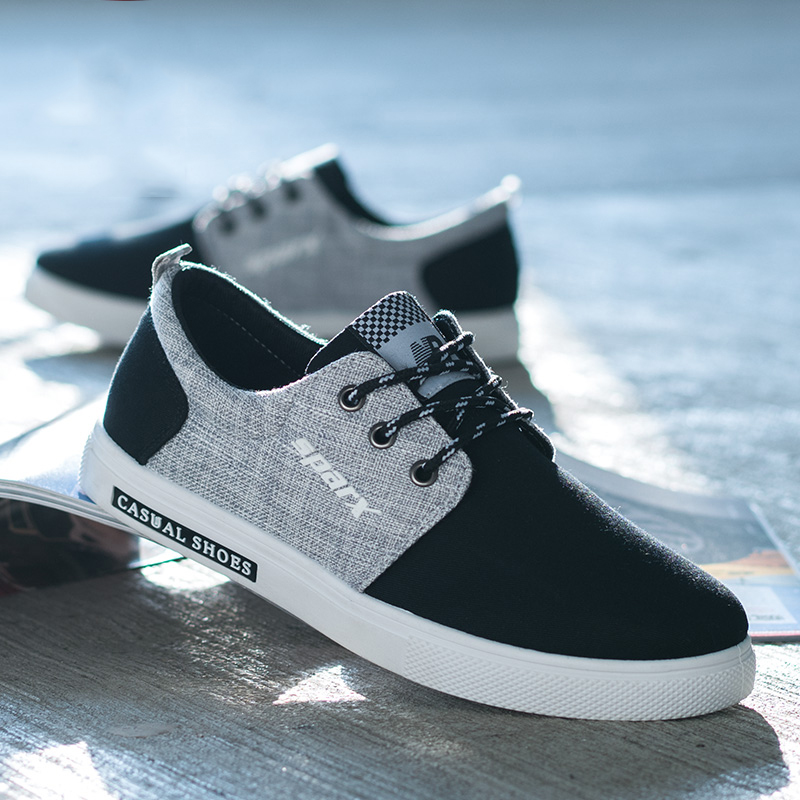 8c397714cfa546 Chaussures Beige Juqi Nouveau Mode black Toile Hommes Printemps Sneakers  blue 2019 Automne Pour Respirant Casual nXr7XqY