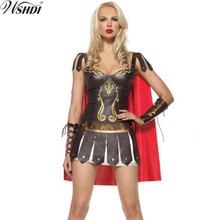 Adult Halloween Costume Cosplay Ladies Greece Xena Gladiator Warrior Princess Roman Spartan Fancy Dress Costume & Cape