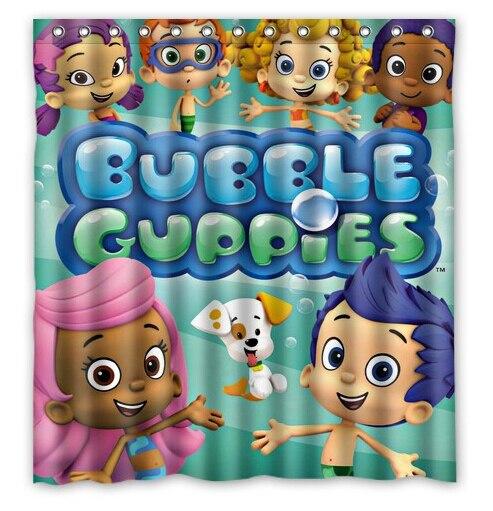 Free Shipping Home Deco Doctor Bubble Guppies Custom Shower Curtain Bathroom Waterproof Fabric Fashion Bath