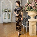 Shanghai Story Top Quality short sleeve national trend Long chinese dress Vintage cheongsam Qipao chinese traditional dress