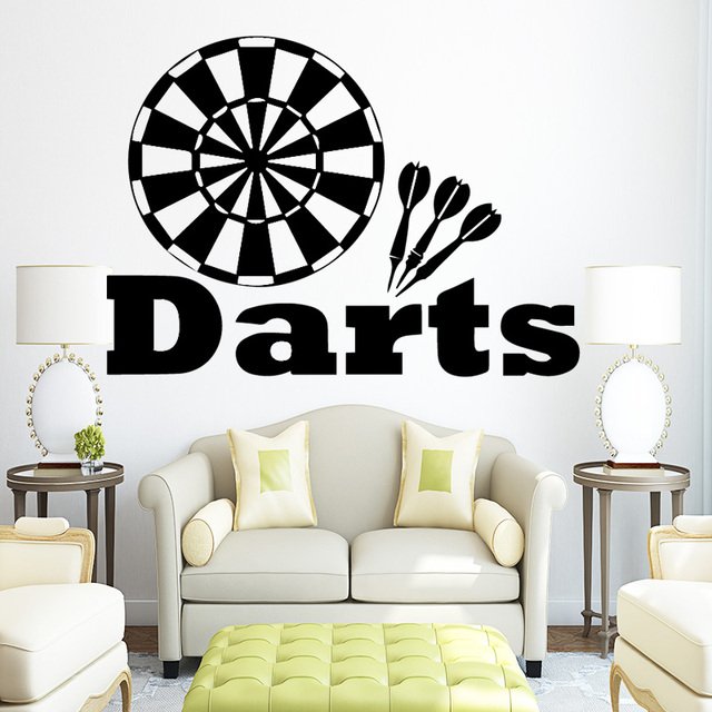 Target Darts Wall Decals Removable Vinyl Wall Stickers for Kids Boys ...