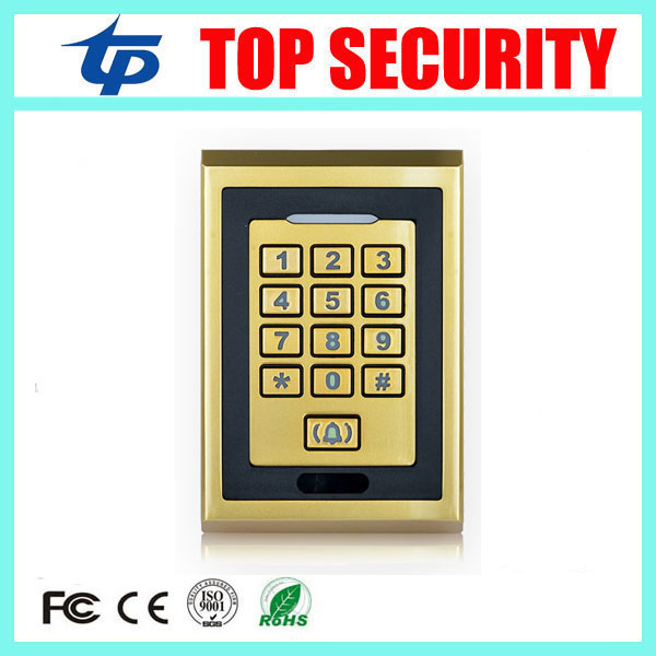 13.56MHZ MF smart card proximity card metal access controller 8000 users surface waterproof door access control system reader smart 13 56mhz mf ic card proximity card access control door opener rfid surface waterproof standalone access control system