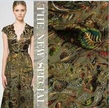 Jane YU Cashew jacquard dress, garment fabric, handmade DIY silk mulberry