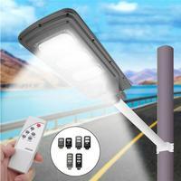Novelty 30W LED Solar Sensor Road Floodlight PIR Motion Sensor Wall Light Waterproof Outdoor Garden Street Pathway Lamp With RC