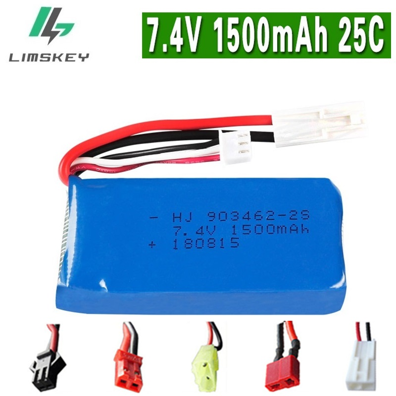 7.4V 1500mAh battery For FT009 Remote controlboat speedboat battery 7.4V 1500mah battery EL JST SM KET T PLUG 2s Lipo battery стоимость