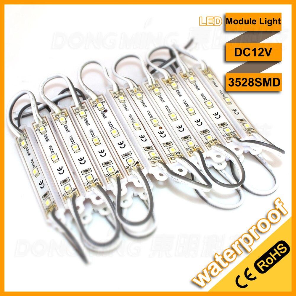 Lowest price 3528 LED modules 3leds LED Signage Lighting waterproof IP65 DC12V cool white 60pcs/lot CE /RoHs