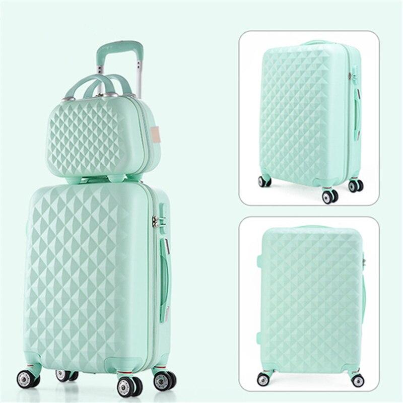 AMLETG, новинка, хит продаж, Модный женский бренд, на колесиках, Повседневный, однотонный, 4 цвета, чехол, багаж на колесиках, S602 - 4