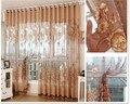Cortinas de voile sheer Cortinas para la sala de estar Moderna cocina panel de cortina con cuentas de tulle De Lujo ventana curtians 4 colores