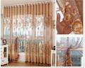 Sheer Cortinas шторы для гостиной Современные voile занавес кухни с бисером Роскошные тюль панели окна curtians 4 цветов