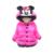 Lindo bebé abrigo parkas niños de dibujos animados mickey minnie Invierno parkas abrigo para 1-3yrs niños niñas prendas de abrigo ropa