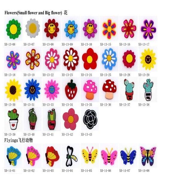100 sztuk wybierasz buty Charms sandał na plażę dekoracje miękkie animacje figurki prezent promocyjny dla dzieci przedszkole prezenty