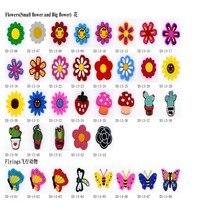 100Pcs Sie Selecte Schuhe Charme Strand Sandale Dekorationen Weichen Animation Zahlen Förderung Geschenk Für Kinder Kindergarten Geschenke