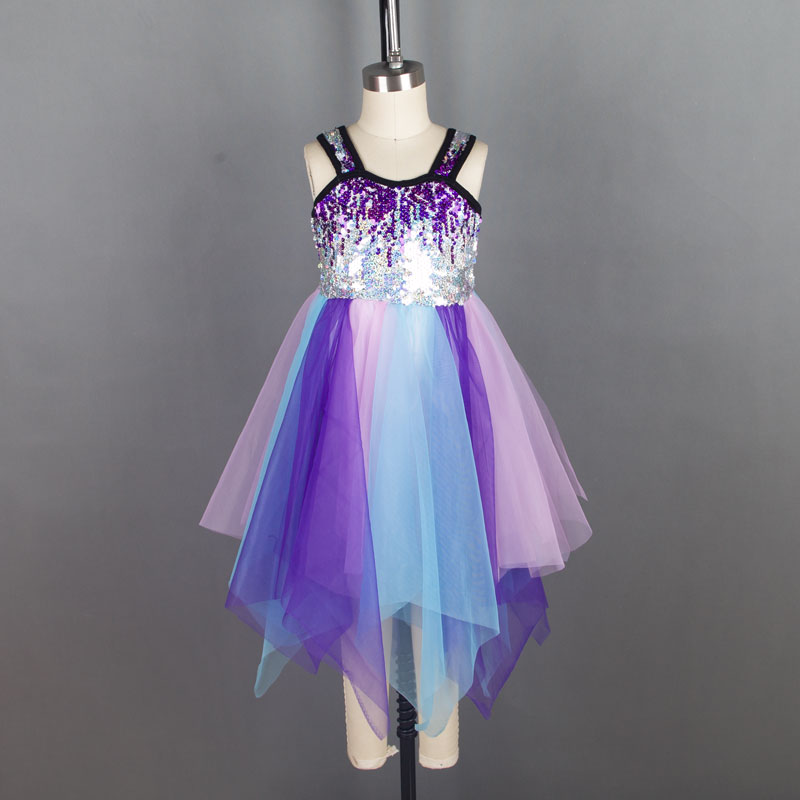 New Lyrical dress for stage or performance women contemporary Ballet dress lady dance costume girl dance costume ballet dress