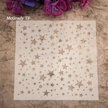 Album Masking Spray Painted Template Scrapbooking Tool Card DIY Flower Letter Drawing Stencil Laser Cut Template Free Shipping(China)