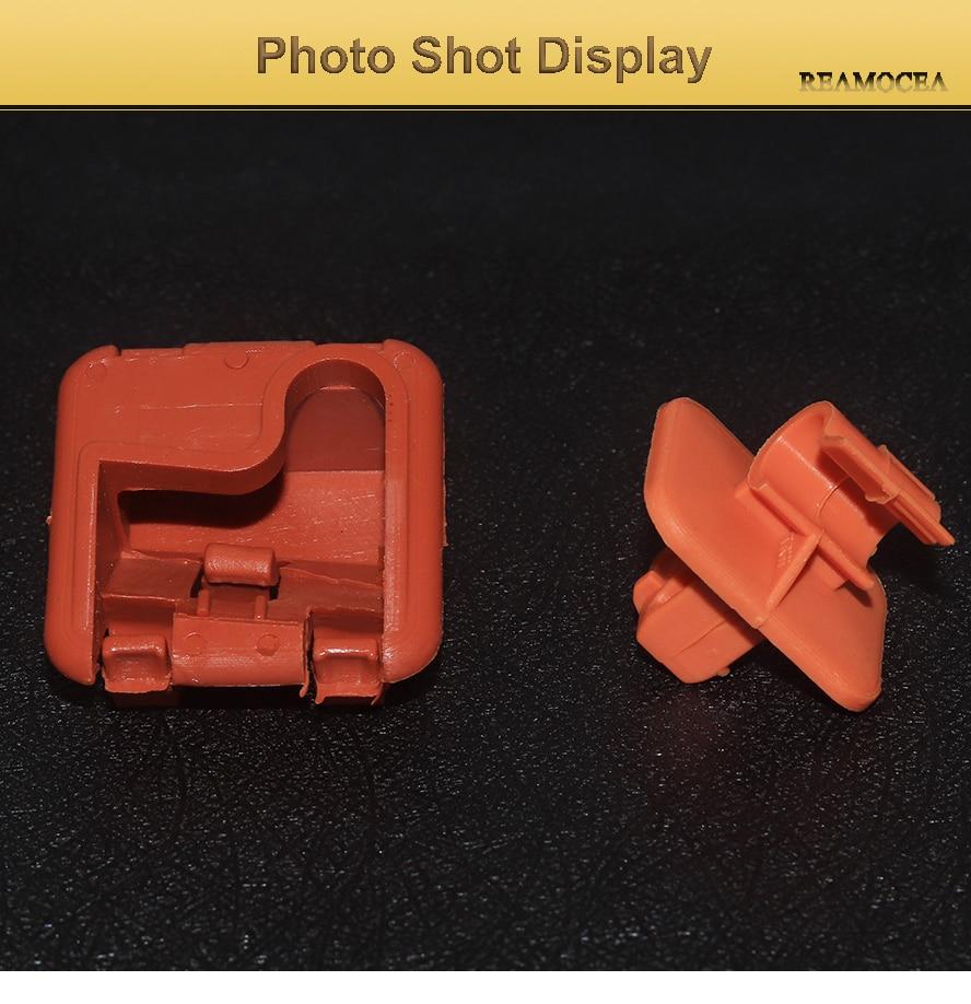 Reamocea 1U0823570A Orange Plastic Car Roomster Hood Bonnet Rod Stay Bracket Buckle Clip For Skoda Fabia Octavia MK2 2004-2013 (12)
