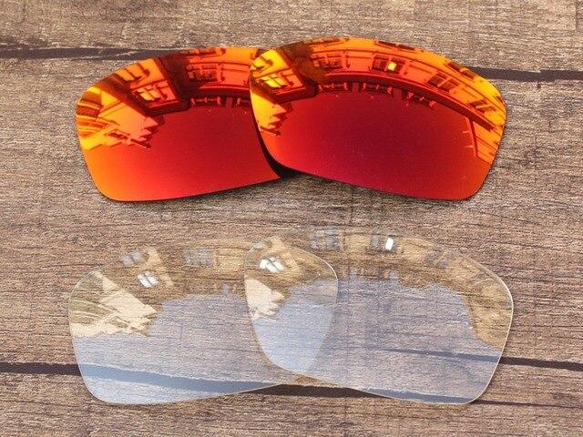 c5eac2b0bfebed Feu Rouge et Cristal Clair 2 Paires Miroir verres de Remplacement Pour  Hijinx lunettes de Soleil