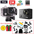 Free Shipping!Gitup Git2 16M Ultra 2K WiFi DV Sports Action Helemet Camera+18 in 1 Accessories