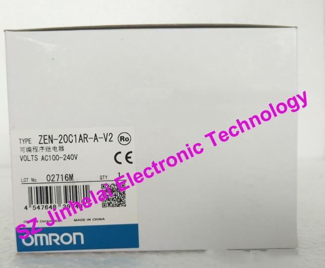 100%New and original  ZEN-20C1AR-A-V2  OMRON Programmable relay  AC100-240V [zob] new original omron omron beam photoelectric switch e3jk tr12 c 2m 2pcs lot