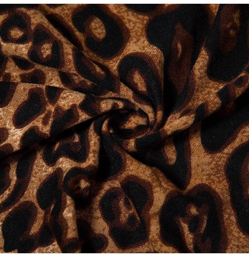 Women's Sexy Lingerie Bodysuits Leopard Print Nightwear Underwear Sexy Hot G-string Erotic Deep V Neck Babydoll (7)