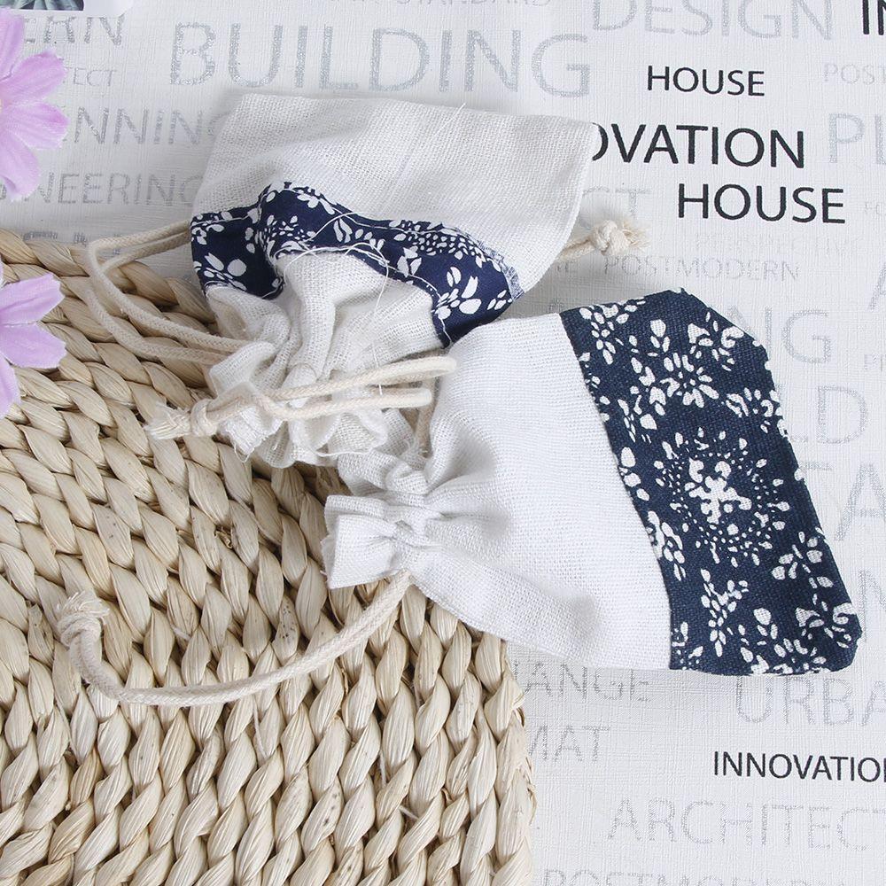5x Small Burlap Linen Jute Sack Pouch Bag Drawstring Jewelry Wedding Gift Favor