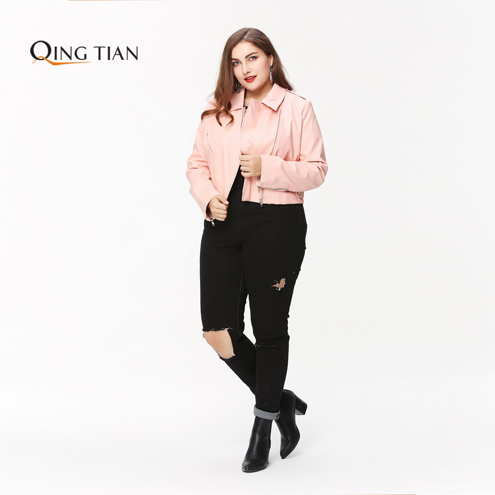 QING TIAN Plus Size Fashion Women Clothing Solid Broken Hole Pants Street Style Slim Big Size Jeans 3XL 4XL 5XL 6XL