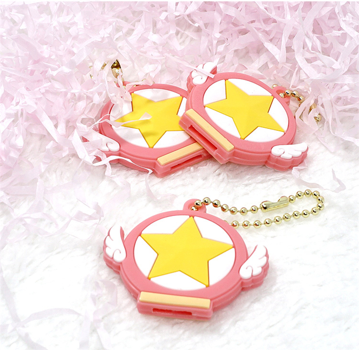 Card Captor SAKURA cosplay accessaries rubber key cover Free Shipping