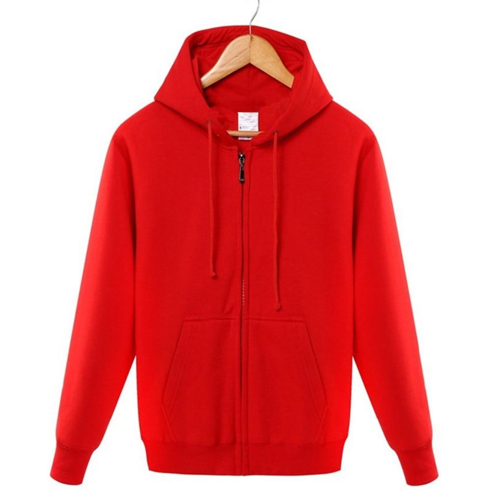 Winter 2019 cotton  zipper hoodie street hip hop red black powder zipper hoodie hoodies   S 4XL-in Hoodies & Sweatshirts from Men's Clothing