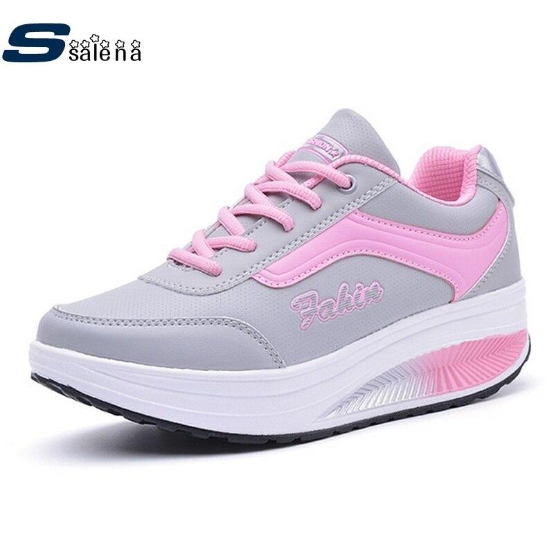 Authentique femmes chaussures de course femmes sneakers en plein air respirant chaussures de marche en cuir antidérapant résistant sport chaussures # B2127