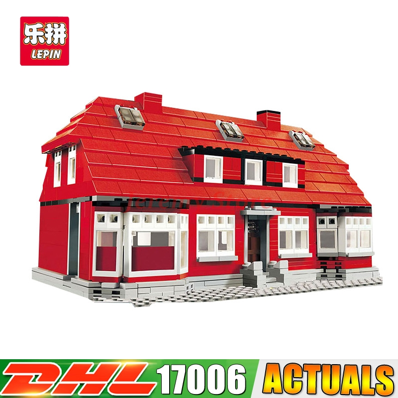 Фотография 2017 IN STOCK Lepin 17006 928Pcs The Red House Set 4000007 Education Building Kits Blocks Bricks Model Toys For Children Gift